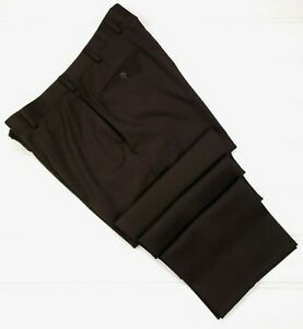 Brooks-Brothers-Brown-Madison-Pants-36x32-Mens-Flat-Front-Wool-Trouser-1818-Pant