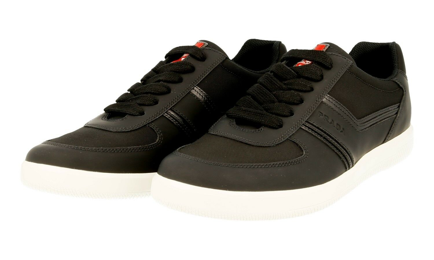AUTHENTIC LUXURY PRADA SNEAKERS SHOES 4E3026 BLACK NEW US 12