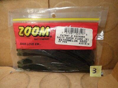 Zoom Super Fluke Rainbow Shad 023-194 Package of 10
