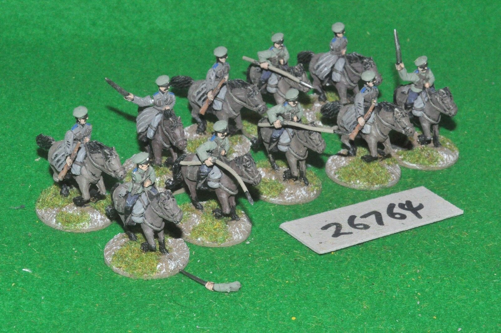 20mm WW1   czech - for russian civil war 10 figures - cav (26764)