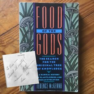 Autographed-Signed-Terence-Mckenna-Food-Of-The-Gods-Hermes-Occult-Esoteric