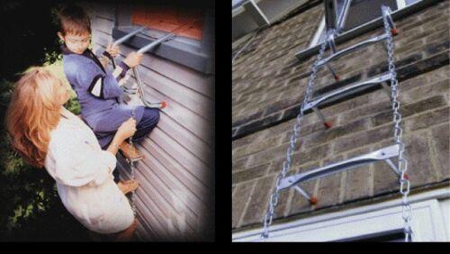 -College Dorms Portable Fire Escape Ladder 14in Safe-Escape 4th-5th Story 45ft