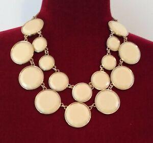 acrylic. Vintage creamy statement necklace
