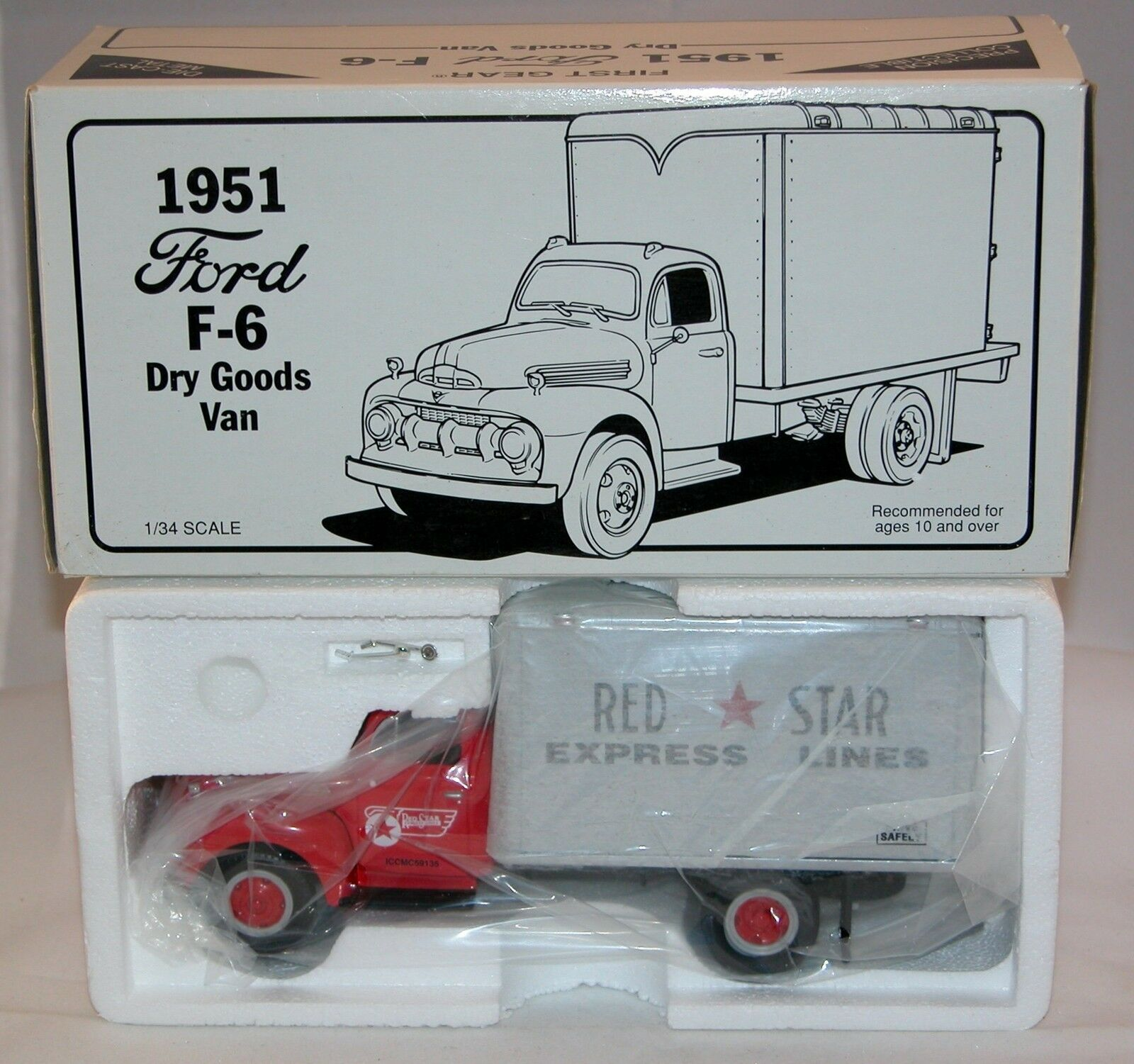 First Gear Camion Ford F-6 1951   rouge Star  Express Lines Neuf en boîte (  A11)