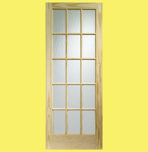 Internal Knotty Pine SA77 Door with Flemish Glass Brand New.