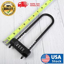 Long 8inch U Lock Outdoor 4 Digit Dial Combination Lock Padlock Password Usa