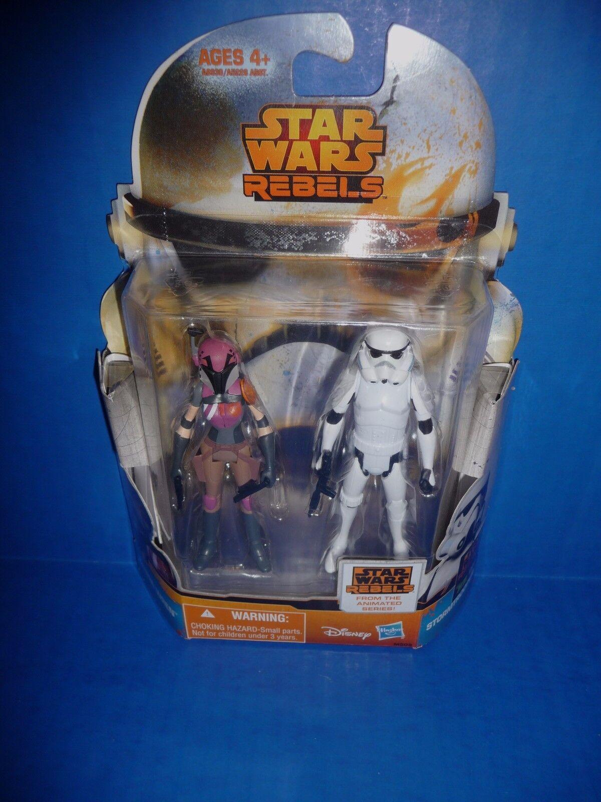 garantía de crédito Estrella WARS REBELDES SABINE WREN & Stormtrooper misión serie figura figura figura 2-Pack  nuevo   tiendas minoristas