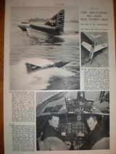 Photo Delta-Wing Sea Dart trials US Navy 1953