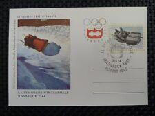 AUSTRIA MK 1964 OLYMPIA OLYMPICS BOB MAXIMUMKARTE CARTE MAXIMUM CARD MC CM a8541