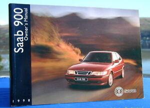 new rare original saab 900 handbook owners manual 1998 ebay rh ebay co uk 1995 saab 900s owners manual saab 900 turbo service manual