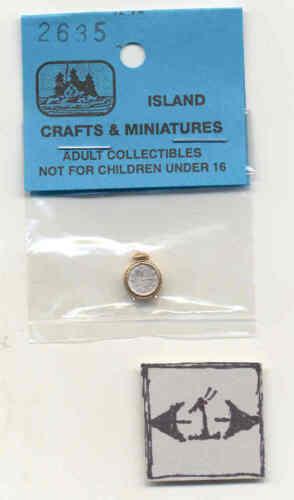 ALARM CLOCK  1//12 scale dollhouse metal miniature tool ISL2635 Craft Island