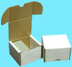 5-BCW-200-COUNT-CARDBOARD-STORAGE-BOXES-Trading-Sports-Card-Holder-Case-Baseball