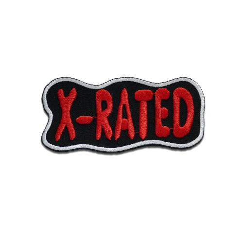 black Application badges 9,5x5cm Iron on patches X-Rated Biker Quotes