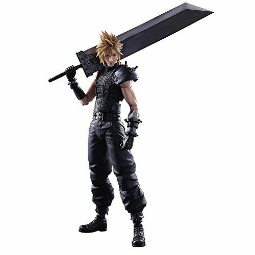 nuovo PLAY ARTS FINAL fantasyc VII RErendere No.1 cloud strife PVC azione cifra