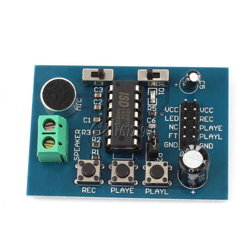 ISD1820 Voice Board Sound Recording Recorder Playback Module Microphone