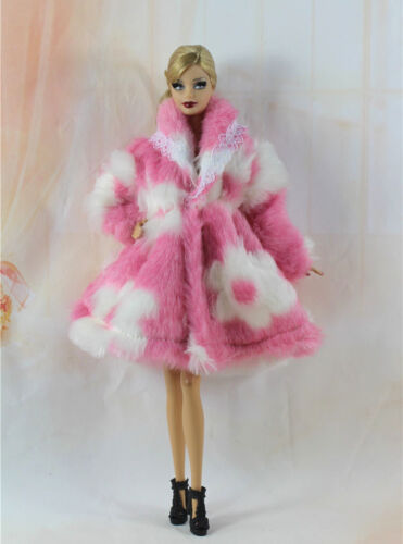 Lovely Fashion Winter fur Coats Clothes//Outfit For 11.5in.Doll C011