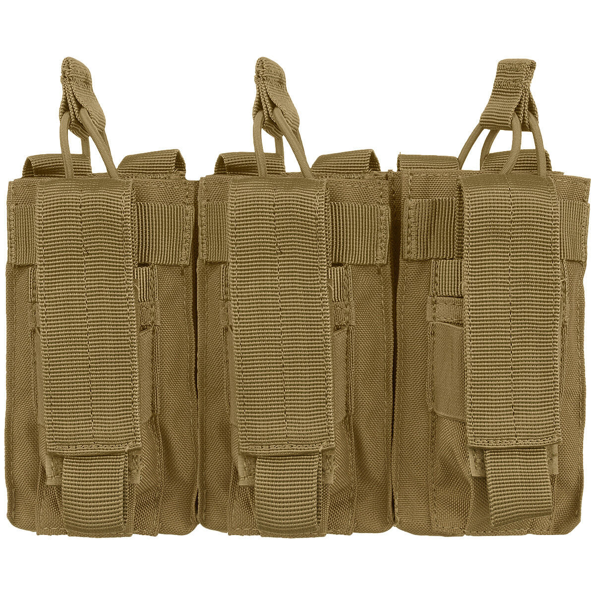 Condor Triple Kangaroo Range Pistol Mag Pouch MOLLE System Coyote Brown