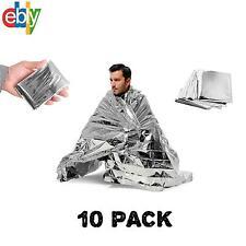 10 PACK • Emergency Solar Blanket Survival Safety Insulating Mylar Thermal Heat