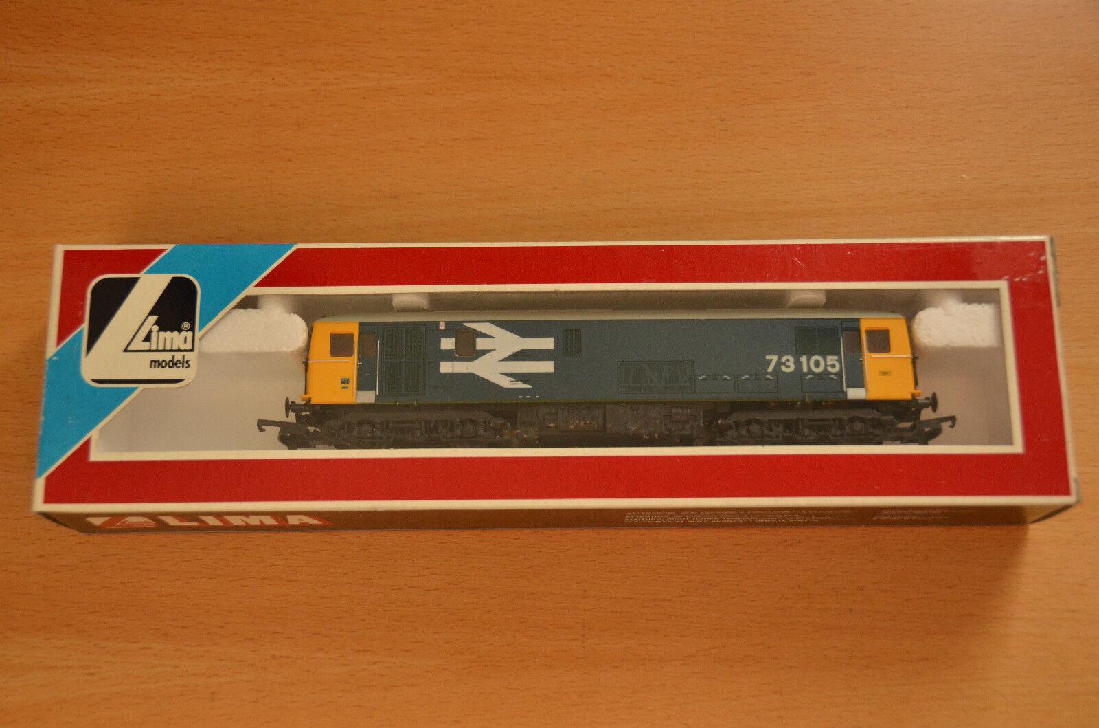 Nuovo Boxed Lima 205270 Class 73 Diesel Locomotive 73105 BR Big blu Large Logo