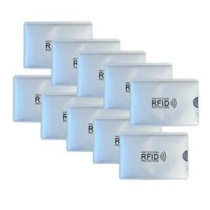 10X-RFID-Credit-Card-ID-Sleeve-Protector-Safety-Aluminum-N6Y1-Theft-Shield-I4Z5