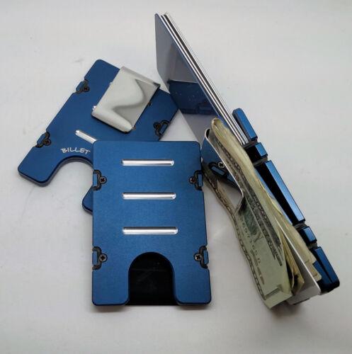 Aluminum Wallet//Credit Card Holder Standard Blue RFID Protection