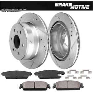 Carbon Ceramic Pads For Chrysler Pacifica Front+Rear Drill Slot Brake Rotors