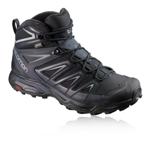 Salomon X Ultra Mid 3 Mens Black Gore Tex Walking Hiking Shoes Boots