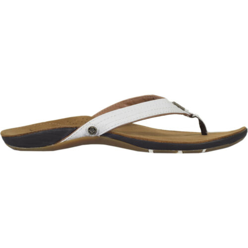 REEF MISS J Bay Femme Chaussures Tongs-Tan Blanc Toutes Les Tailles