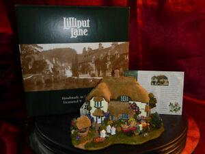 LILLIPUT-LANE-Beekeeper-039-s-Cottage-L2316-2000-2001-Club-S-E-Model-Box-Deeds
