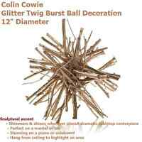 Colin Cowie Glitter Rustic Twig Ball Decoration Mantel Centerpiece 12