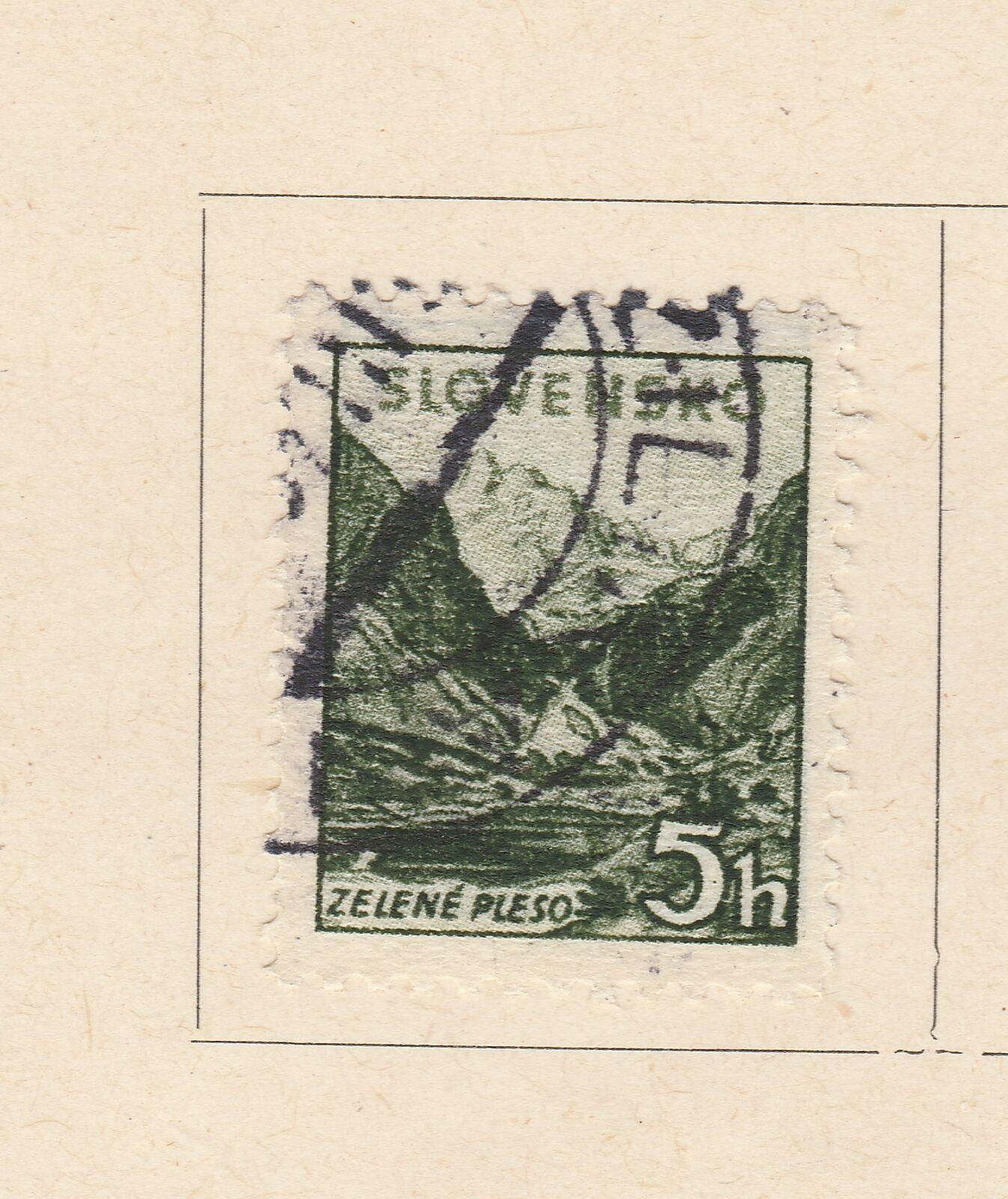 A5P57F199 Slovakia 1940-43 Wmk Cross Multiple 5h Perf 12 1/2 used