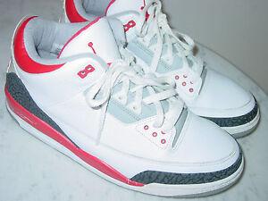best sneakers fd5f2 114d5 ... Image is loading 2006-Nike-Air-Jordan-Retro-3-White  Jordan Retro 3 -  Boys Preschool - Basketball - Shoes - Black Fire Red Cement Grey  buy real  ...