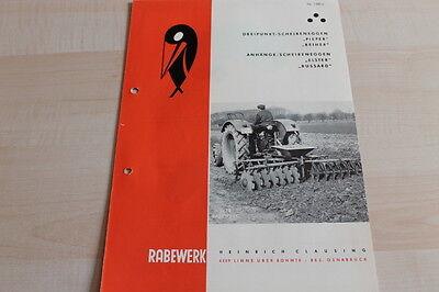 Prospekt 05/1964 Pieper Reiher Elster Rabewerk Scheibenegge 144663