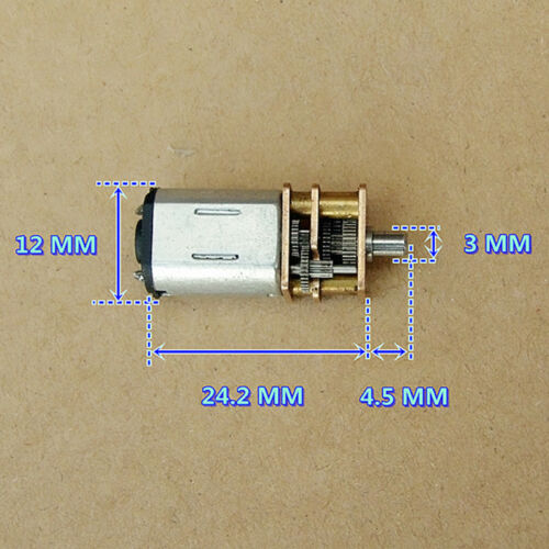 12mm DC 5V 56RPM Micro N20 Full Metal Gear Motor Gearbox Reducer DIY Robot Car