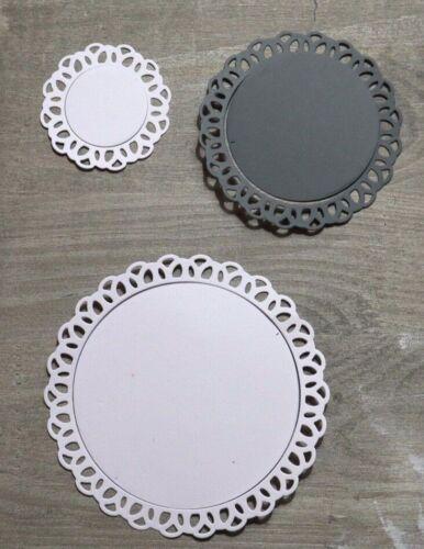 Stanzschablone// Cutting dies  Kreis Rahmen mit Bögen /& Innenkreis