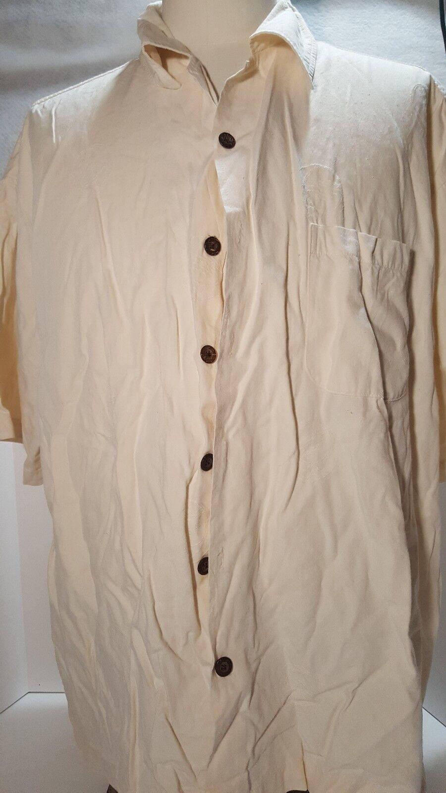Vintage Grateful Dead by David Carey Button Up Short Sleeve Shirt Size 2XL