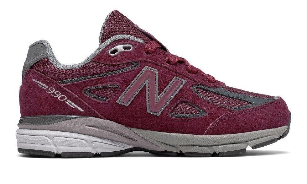 New Balance 990 Burgundy Running shoes For Women Youth Size New N Box KJ990BYG