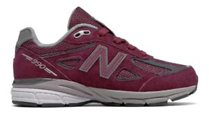 separation shoes 6206f 1e438 Details about New Balance 990 Burgundy Running Shoes For Women Youth Size  New N Box KJ990BYG