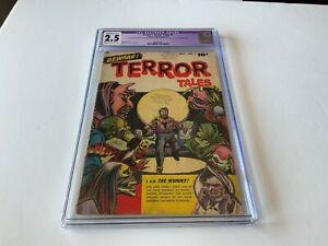 BEWARE-TERROR-TALES-1-CGC-2-5-PRE-CODE-HORROR-GRAVEYARD-COVER-MUMMY-FAWCETT-1952