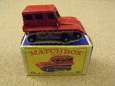 OLD VINTAGE LESNEY MATCHBOX # 35 SNOW TRAC TRACTOR ORIGINAL BOX