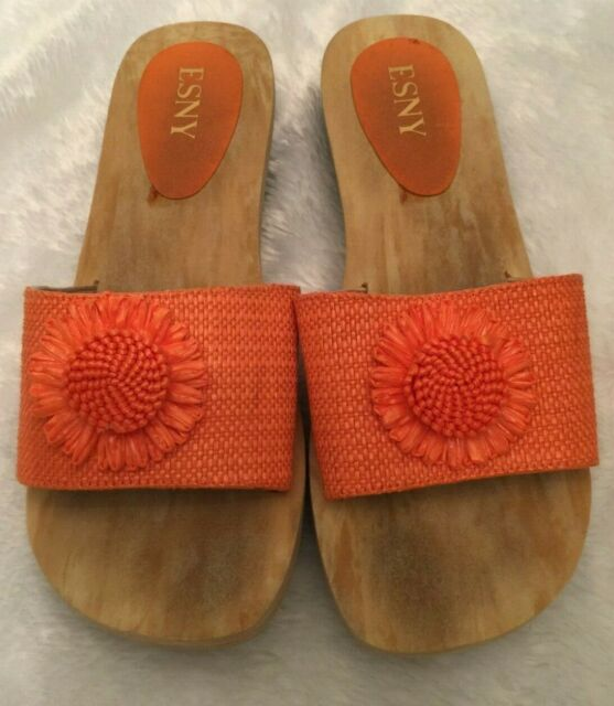 ESNY Womens Sandals Size 9 Orange