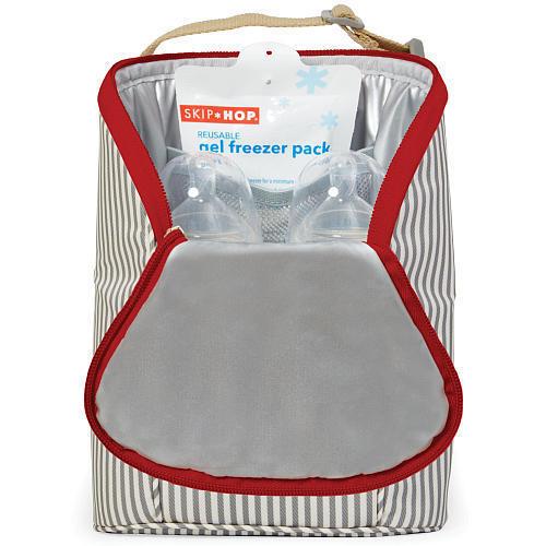 Skip Hop Grab /& Go Double BPA-Free Stroller Cooler Bottle Bag Baby Freezer Pack