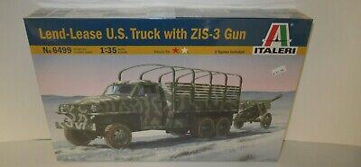 Italeri 1//35 Lend Lease U S Truck With ZIS-3 Gun Model Kit 6499
