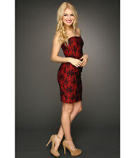 NWT $258 French Connection FCUK Strapless Dress Fast Luxury Lace sz 0