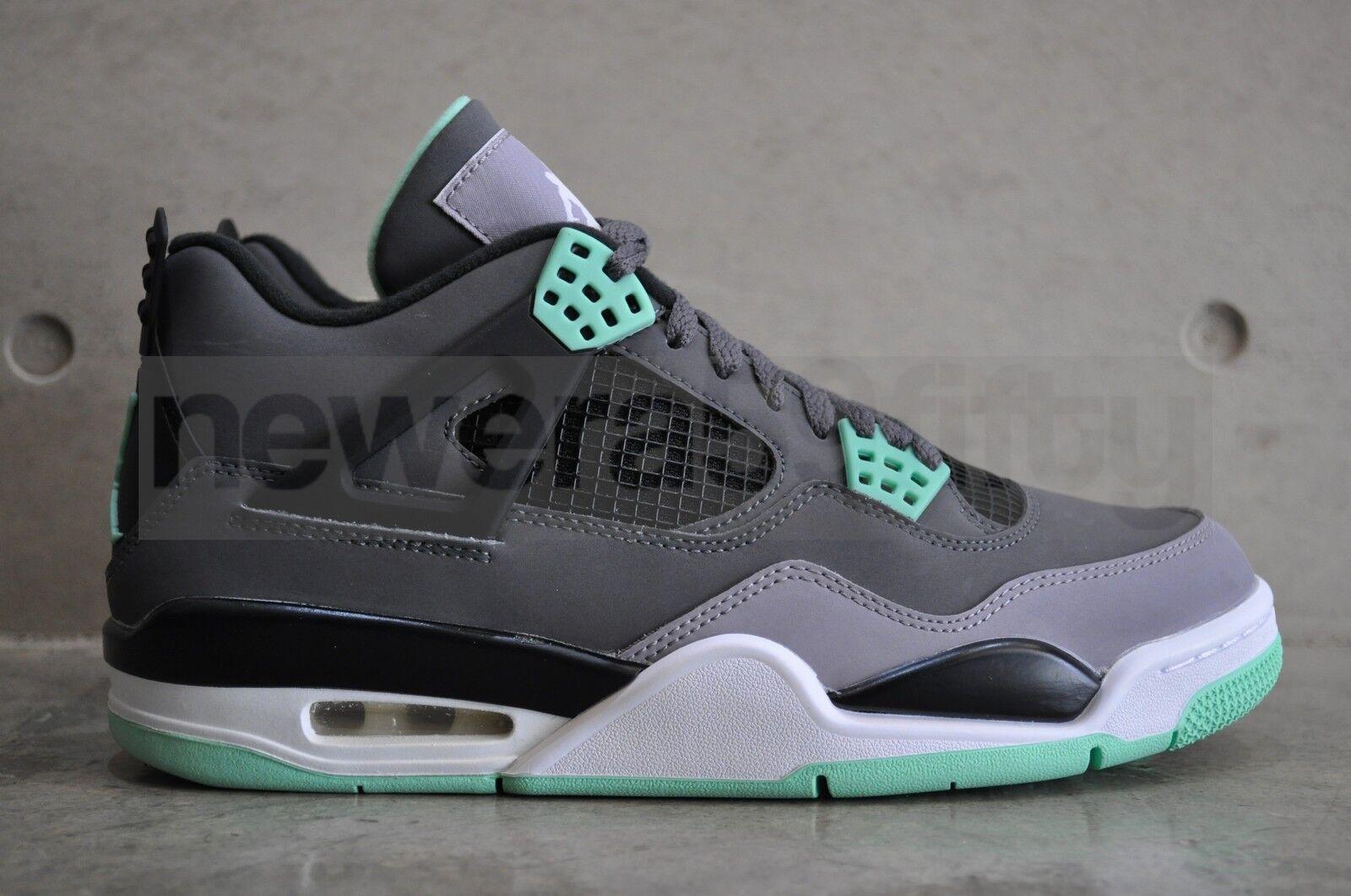 Nike Air Jordan 4 Retro 'Green Glow' - Drk Grey/Grn Glw-Cmnt Gry-Blk