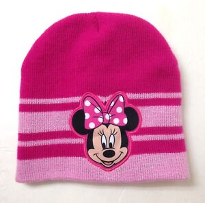 3ca30558fdc Youth Girl MINNIE MOUSE BEANIE Pink Sparkle Silver Stitch winter ...