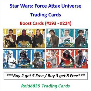 034-Topps-034-Star-Wars-Force-Attax-Universe-Boost-Cards-193-224
