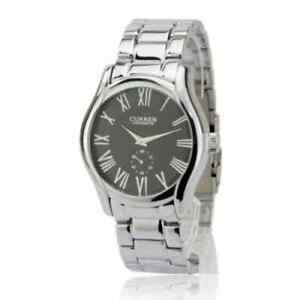 New-Men-s-Luxury-Round-Dial-Silver-amp-Black-Dress-Analog-Watch
