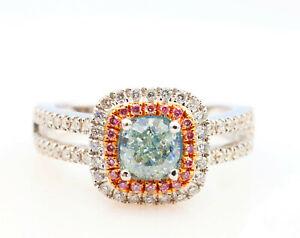 1-50ct-Natural-Fancy-Light-Green-Argyle-ntense-Pink-Diamonds-Engagement-Ring-GIA