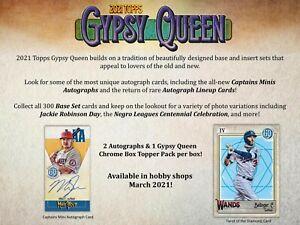 TAMPA BAY RAYS 2021 Topps Gypsy Queen Baseball 5 Box Half Case Break #6 EBAY
